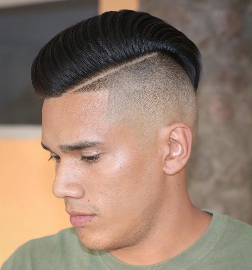 pompadour with undershave