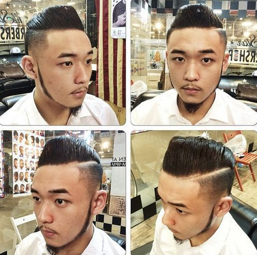 Azijos pompadour hairstyle for men