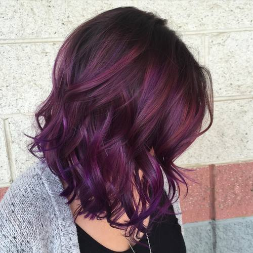 tamsi brown to purple ombre