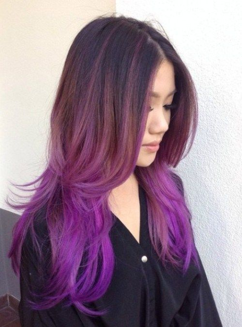 Ruda To Lilac Ombre Hair