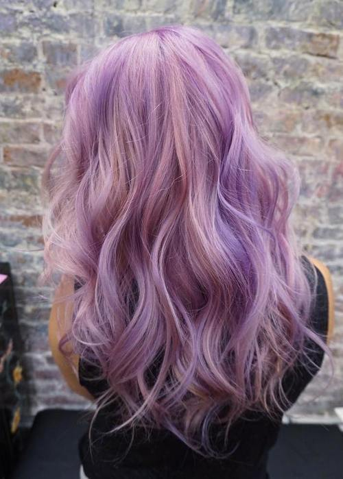 pastelė purple hair