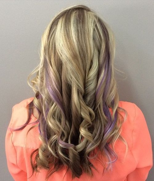 ruda blonde hair with lavender highlights