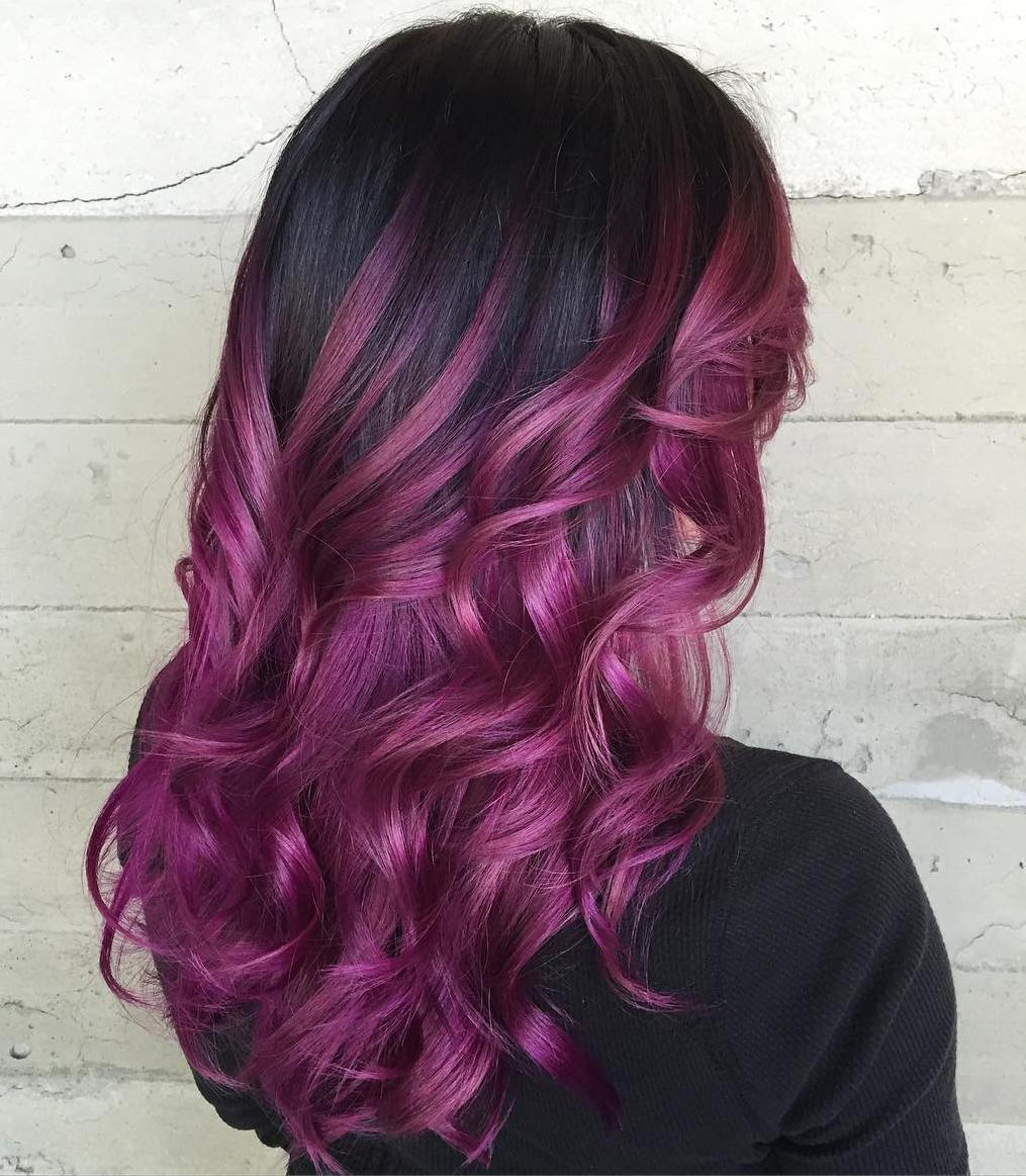 Violetinė Balayage For Black Hair