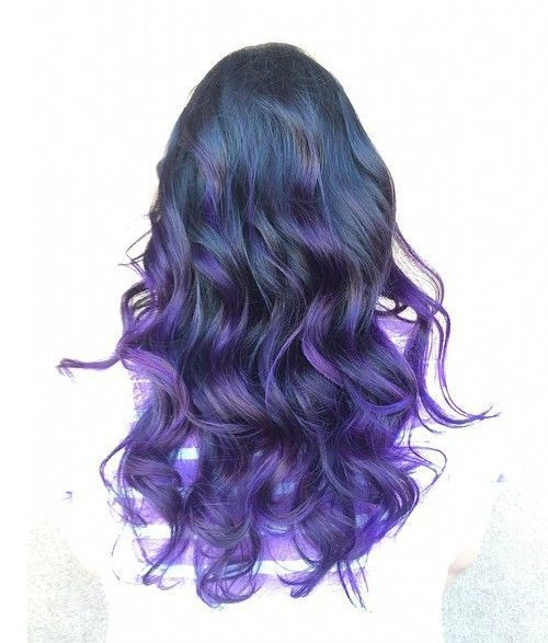 tamsi blue into purple ombre