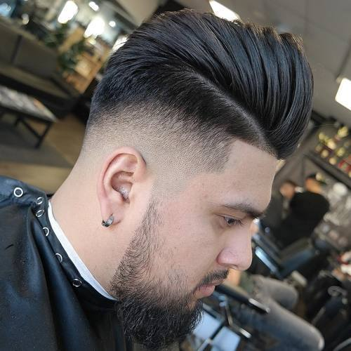 šepečiu back side part taper fade