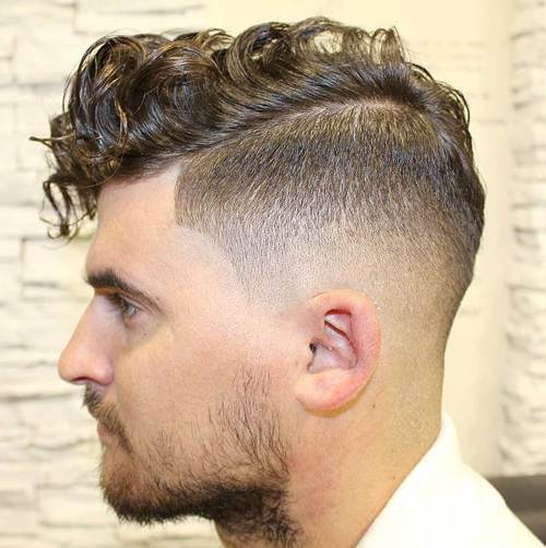 ilgai curly top taper fade