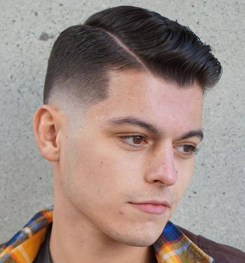 pusė part taper fade
