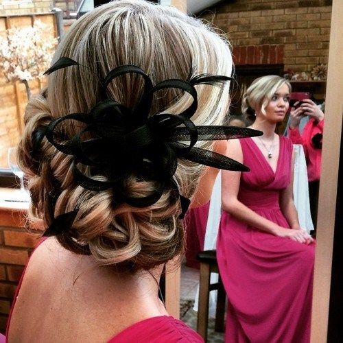 nizak blonde curly updo for prom