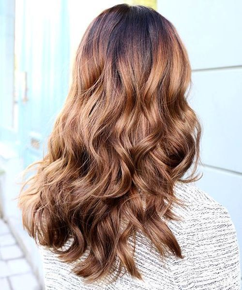 juoda to light golden brown ombre