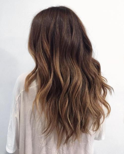 juoda to ash brown ombre