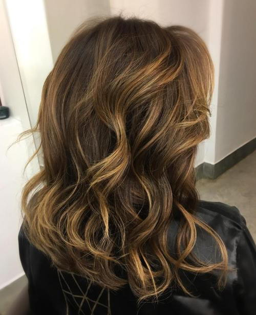 tamsi brown hair with light brown and blonde highlights
