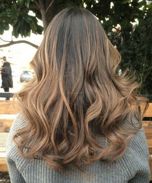 tamsi brown hair with light brown ombre