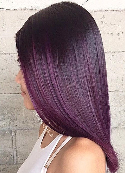 tamsi purple ombre for black hair