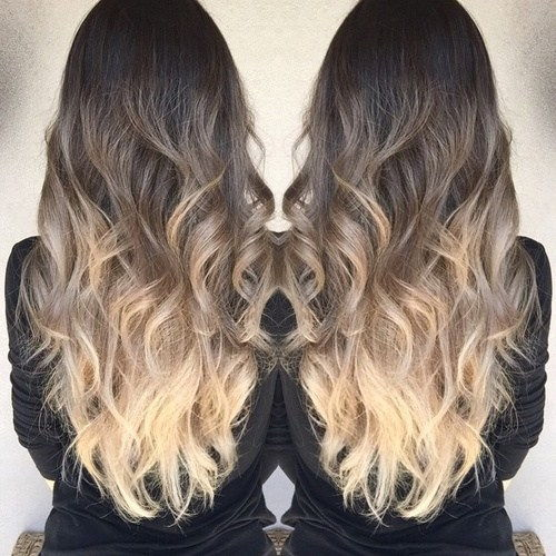 tamsi brown to light ash brown and blonde ombre