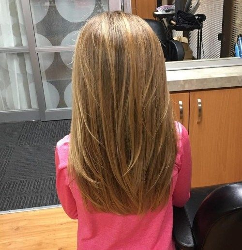 Lang Layered Hairstyle For Little Girls