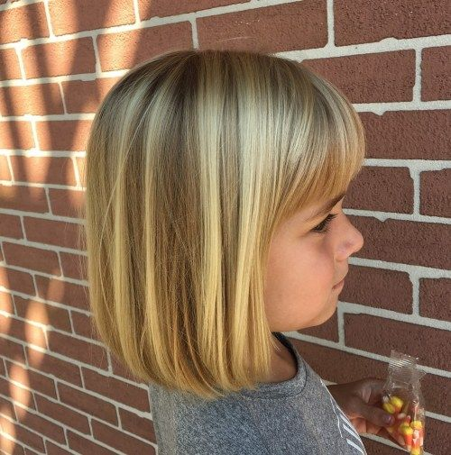 Blond Bob With A Fringe For Girls