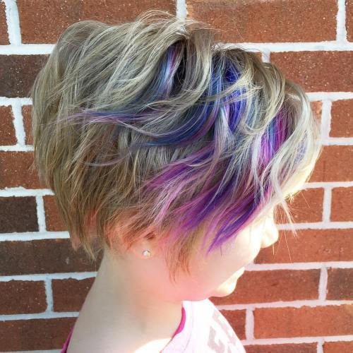 Lille Girls' Long Wavy Pixie Hairstyle