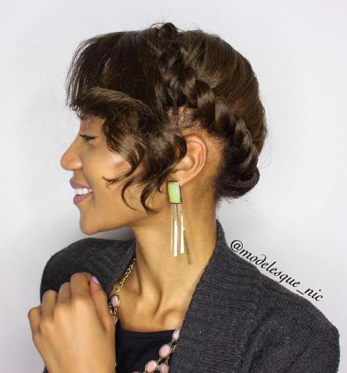 uviti Updo With Bangs
