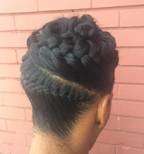 Crno Brown Braid Updo