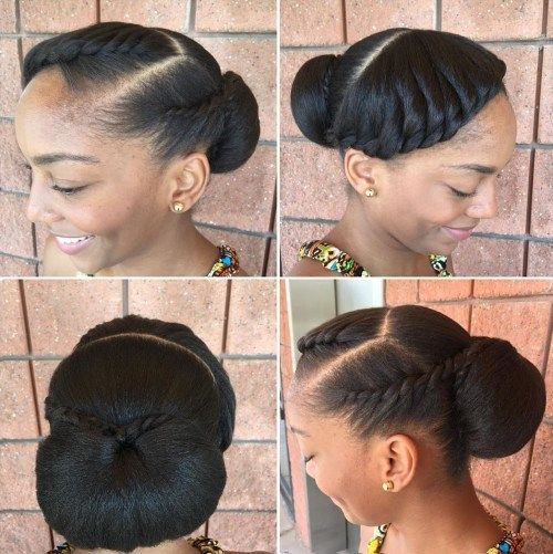 Crno Low Bun Updo