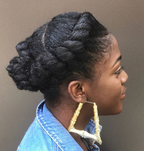 neformalan Natural Flat Twisted Updo