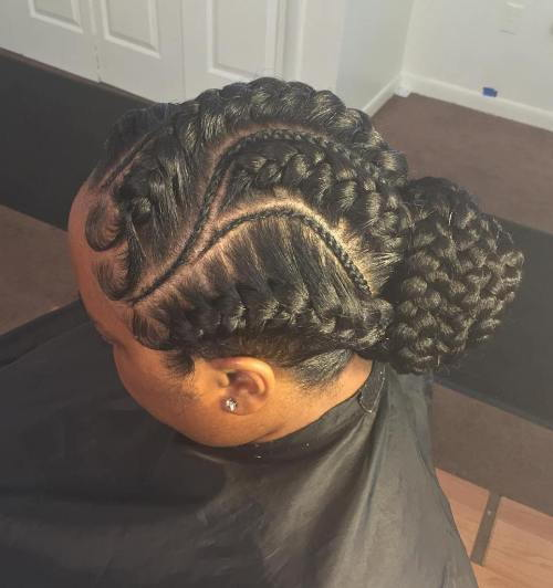 gust And Thin French Braids Updo
