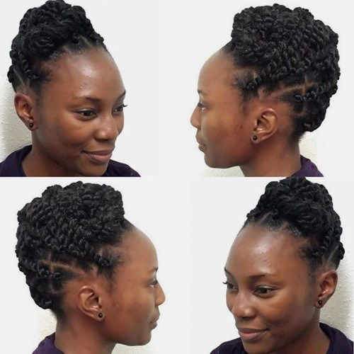 zaštitni updo with twists