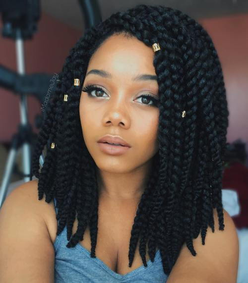 Srednji Length Thick Box Braids