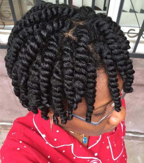 Kratak Twists Protective Hairstyle