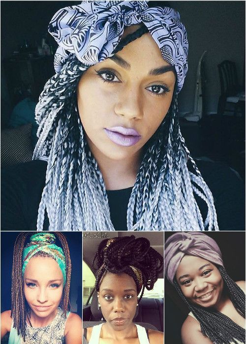 kutija braids hairstyles with scarves