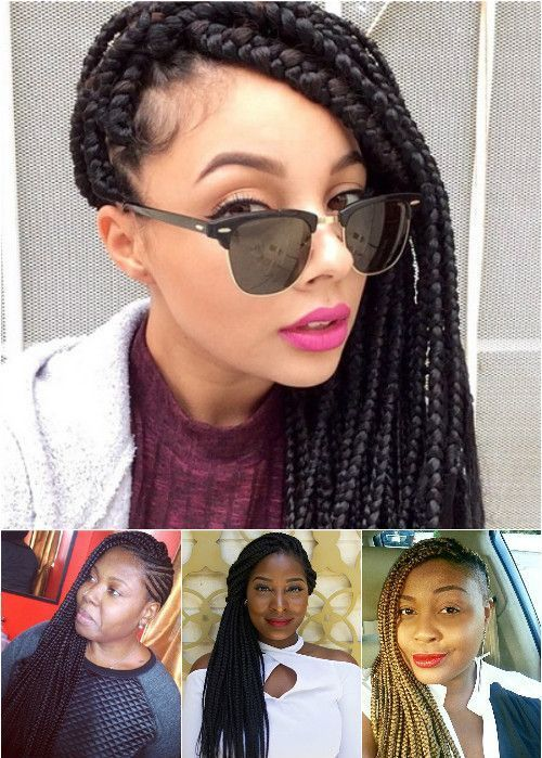 strana swept hairstyles for box braids
