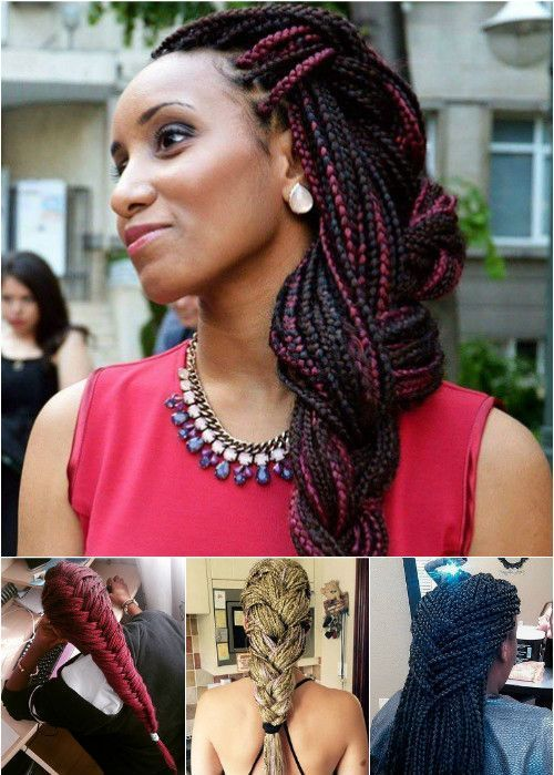 pleteni box braids hairstyles