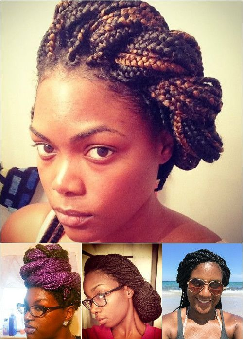 uvrnut updos for box braids