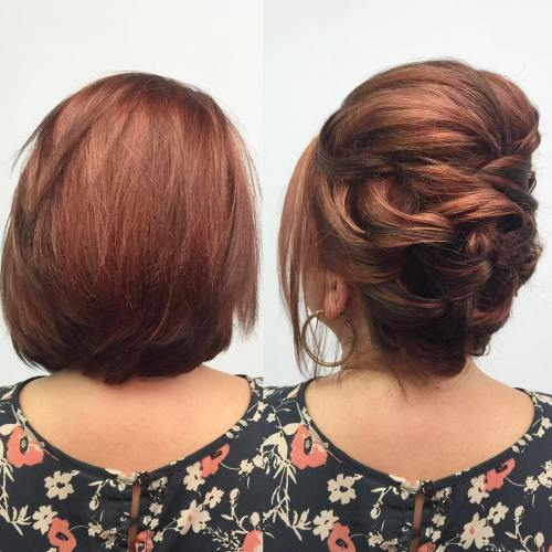 רִשְׁמִי Updo For Short Hair