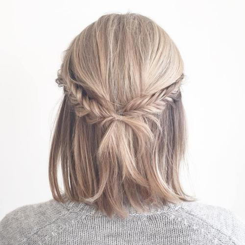 חֲצִי Updo With Fishtail Braids