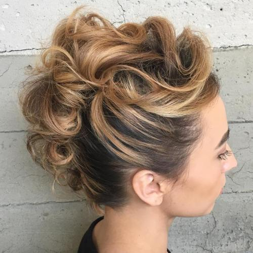 מוהוק Updo For Shorter Hair