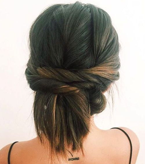 שתיים Twists Updo