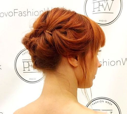 אָדוֹם prom updo for shorter hair