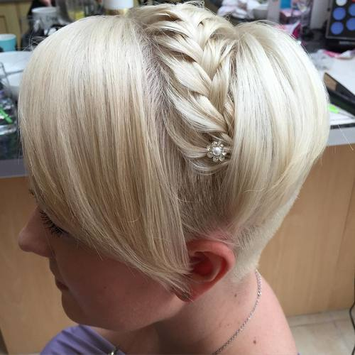 קצר braided undercut hairstyle for prom