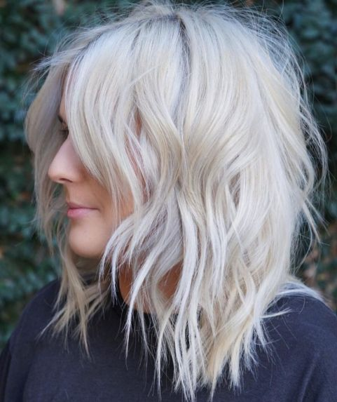 Blond Messy Layered Hairstyle
