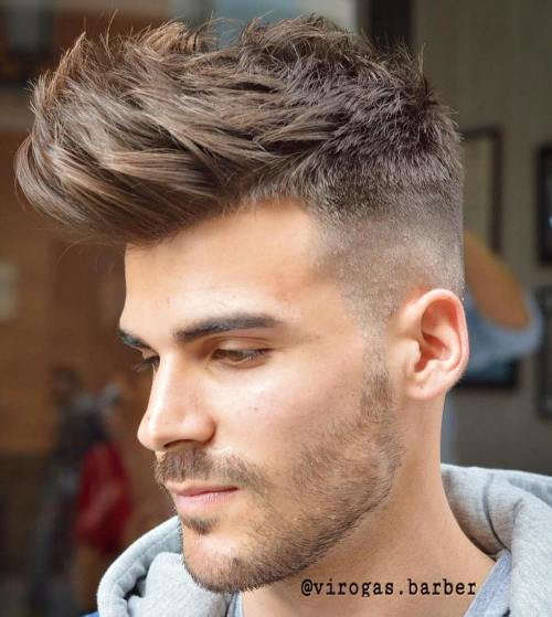 Taper Fade With Long Spiky Top