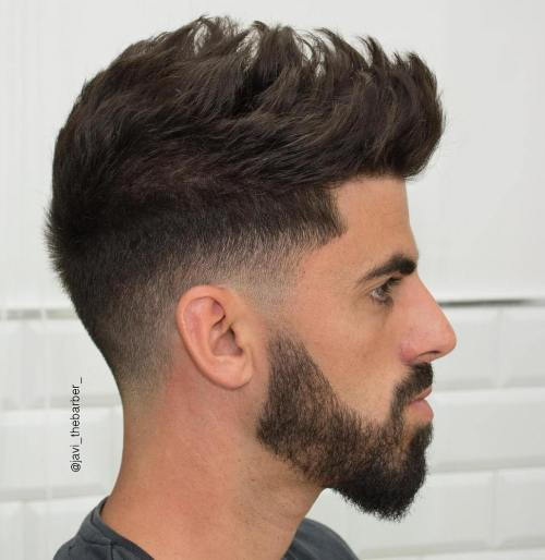 Spiky Taper Fade