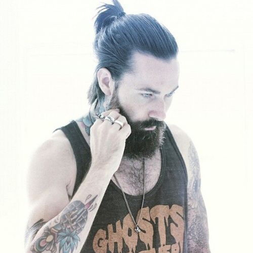 mens ponytail for medium hair