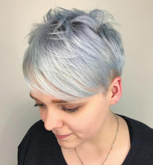 קָטוּעַ Silver Pixie With Bangs