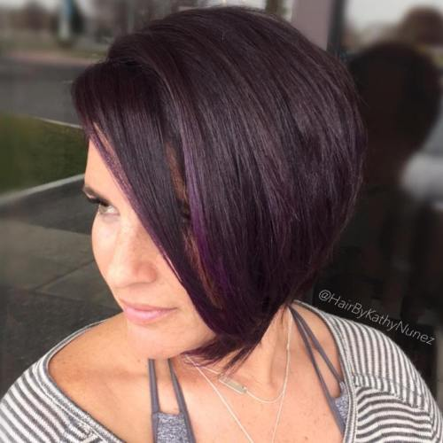 צד סחף Purple Brown Bob