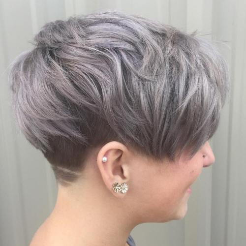 אֵפֶר Brown Undercut Pixie