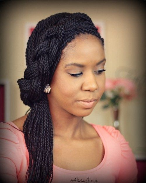 braided hairstyle for twist braids