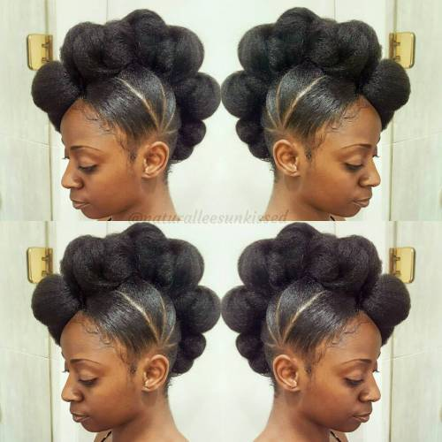 Crno Knotted Mohawk Updo