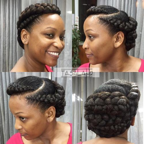 u obliku pletenice Updo For Natural Hair