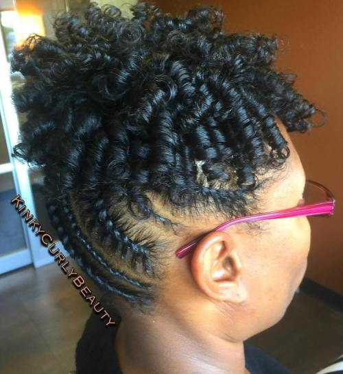 Ravan Twists Updo With Curls